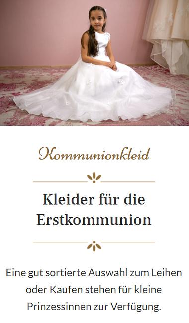 Kleid für Erstkommunion
