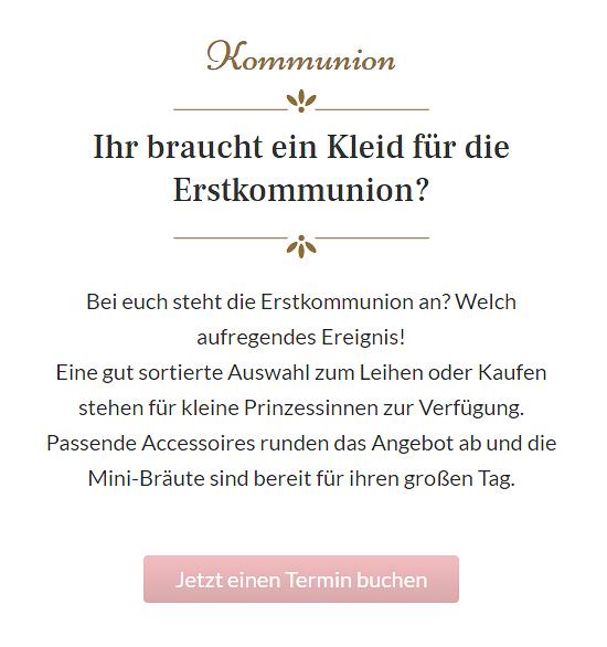 Kommunionkleid bei  Baunach